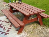 Picnic Table in Sundre Area