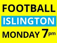 Friendly 7 a side football at Islington needs players. Come play with us.