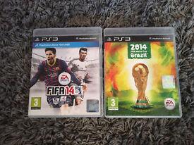 PS3 2 Game Bundle Fifa 14 & FIFA 2014 W/C