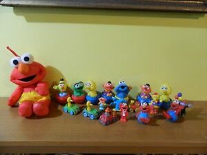 19 Piece Sesame Street Toys from 80's
