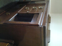 Antique Art Deco Buffet and Table