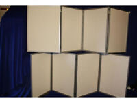Display boards 2.9m x 2m with bag for sale