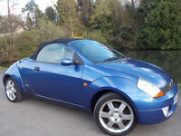 2004 54 FORD STREET KA 1.6 LUXURY ONLY 32K MILES CONVERTIBLE ROADSTER ALLOYS HEATED LEATHER SEATS