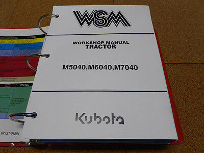 Kubota M5040 M6040 M7040 Tractor Service Workshop Shop Repair Manual
