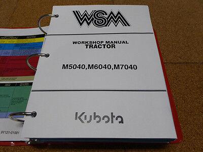 Kubota M5040 M6040 M7040 Tractor Service Workshop Shop Repair Manual
