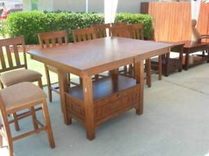 """Dining table, counter height 36"""" expandable"""