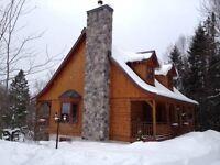 Maison bois rond (Arontec) - Mont Tremblant (Lac Supérieur)