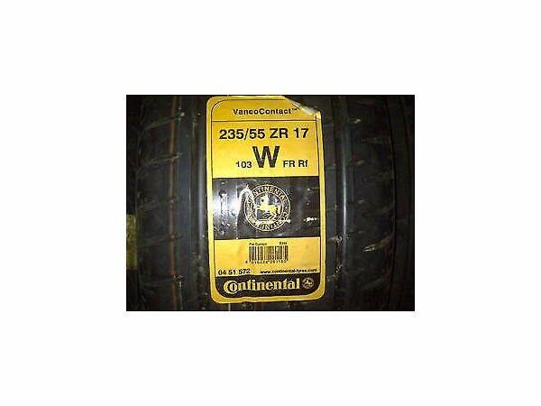 2 x Continental Vanco Contact tyres. 235/55 ZR 17 (103W).