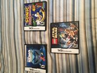 3 Nintendo DS games
