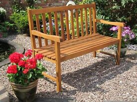 Kent 2 Seater wooden Garden Bench (Choice of cushion Included) 120cm (W) x 59.5cm (D) x 90cm (H)