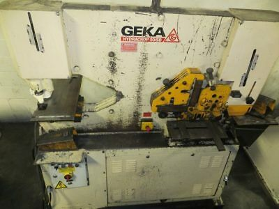 Geka Hydraulic Ironworker 55 Ton Model 50sd