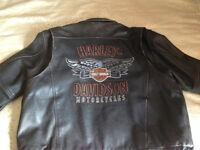 Manteau de cuir Harley