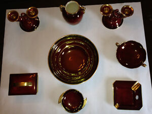 Carlton Ware Vintage Rouge Royale made in England Red & Gold Dec