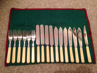 Old Set of Cutlery in Pouch