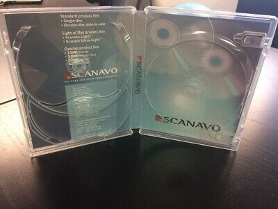 5 Pcs New Original Scanavo 17mm 3-dvd Case Super Clear Br3 Free Shipping