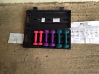 Ladies light dumbbell weights set