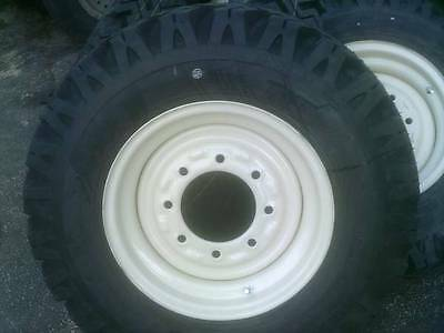 4 Skid Steer Snow Tires Wheels 750-16 10 Ply Fits Bobcat Case N.h. John Deere