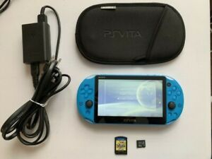 PS VITA Slim Aqua blue RARE + Persona 4 + 64GB card