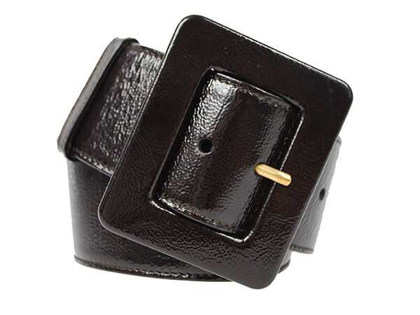 Yves Saint Laurent Black Patent Belt