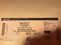 Morrissey - Seat Ticket - Leeds First Direct Arena