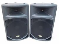 SAMSON DB500 ACTIVE SPEAKERS 500 WATTS EACH