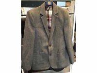 Boys Herringbone Jacket Boys Wool Mix Jacket M&S NEW