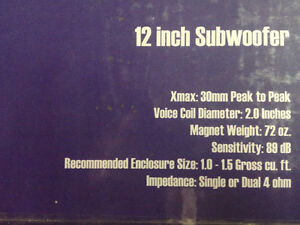 Four NEW 800 Watt  Exile Dual Voice Coil 12in Matched Subwoofers Cambridge Kitchener Area image 5