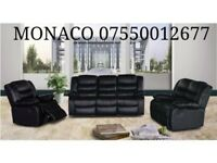 *-*-* SALE *-*-* NEW Leather Recliner Sofas Toronto Black