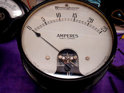 Westinghouse Ammeter - Large - Heavy - Excellent Condition