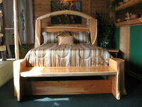 hand crafted beds real wood