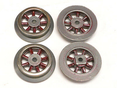 "SL-95 Red Spoke Wheels for Lionel Prewar ""O"" Electric Locomotives, Set of 4"