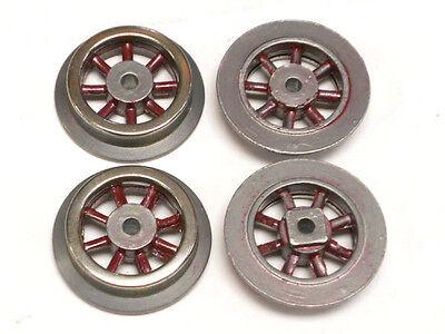 """SL-95 Red Spoke Wheels for Lionel Prewar """"O"""" Electric Locomotives, Set of 4"""