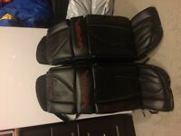 34 +1 goalie pads and gloves