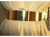 Gold Metal Statement Belt Chunky High Waist Shiny Belt New Trend New Fashion Hot Womens Accessories