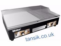 836 NEW Electric Griddle / Hotplate 73cm Flat / Grooved Commercial
