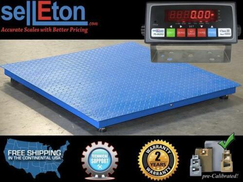 Ps-4x4 Industrial Floor Scale Pallet Size 10,000 Lbs X 1 Lb 4' X 4'