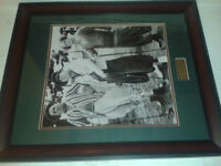 UNIQUE FRAMED AND DOUBLE MATTED PICTURE OF THE 3 STOOGES, UNIQUE