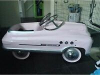 CHRISTMAS XMAS - Designer Childrens Pink Supersport Comet Pedal Car - GOOD AS NEW