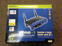 Linksys WRT54G Wireless / Wired Dual Antenna Router