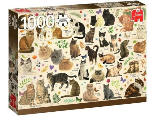 Jumbo 1000 Piece Jigsaw Puzzle - Cat