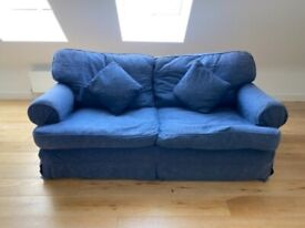 A EXCELLENT QUALITY 3 SEATER FEATHER FILLED SOFA VERY GOOD USED CONDITION FREE LOCAL DELIVERY