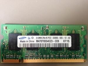 512MB PC2 Memory/RAM laptop
