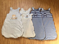 0-6 Months Baby Sleeping Bags x 4