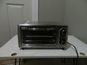 "Stainless steel Toaster Oven (14""L x 10""W x 8""H) Hamilton Beach"