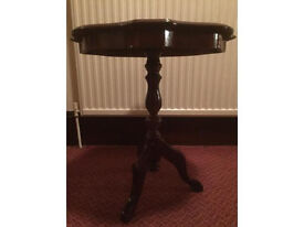 Italian inlaid wooden side table
