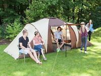 Skandika Daytona 6 Person Man Family Dome Tent Mosquito Mesh Camping Brown