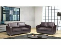 **SAME DAY EXPRESS DELIVERY ALL OVER LONDON** BRAND NEW FAUX LEATHER 3+2 BOX SOFA JUST £219
