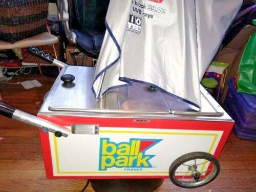 AUTHENTIC BALL PARK HOT DOG TABLE TOP HOT DOG CART TESTED!