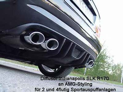 Mercedes SLK R170 Diffusor & Heckstoßstange Indianapolis f. AMG 32 Ausgang links