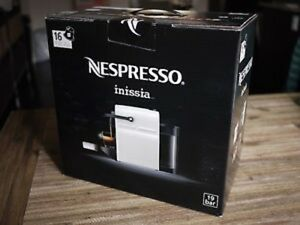 "Brand New NESPRESSO ""inissia"" plus 16 Coffee Pods – White"